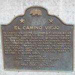 Plaque commemorating El Camino Viejo