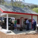 replica of a 1930's style Gas Station