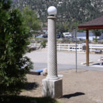 lamp posts from the old Lebec Hotel